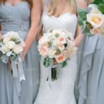 Neutral bridesmaid dresses are a classic choice that is H-O-T right now