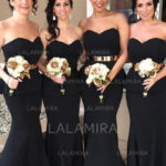 I'm so excited to talk about the black bridesmaid dresses today! [From LaLamira]