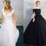 Is white wedding dress the mainstream? I didn't expect a black wedding dress to be so beautiful!