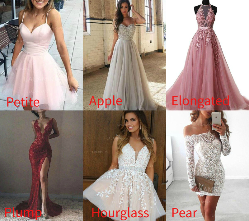 prom dress by your body type