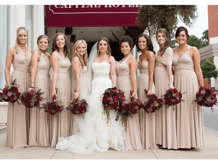 Has the bride's wedding dress been confirmed?  Then the bridesmaid's dress should be on the agenda