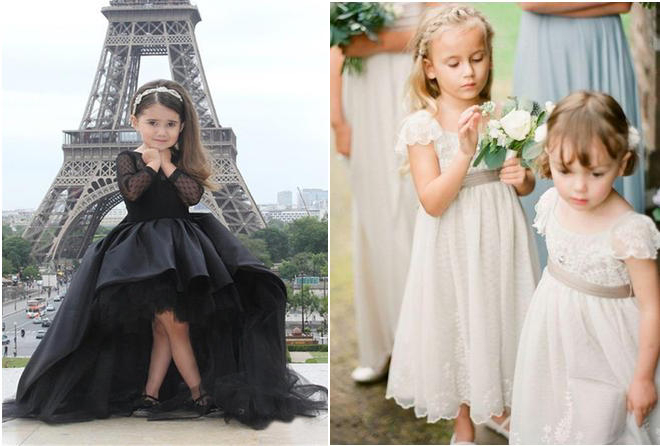 Do You Think Black Flower Girl Dress Is Appropriate for Wedding?