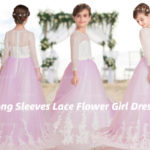 Long Sleeves Lace Flower Girl Dresses Match Your Princess Perfectly