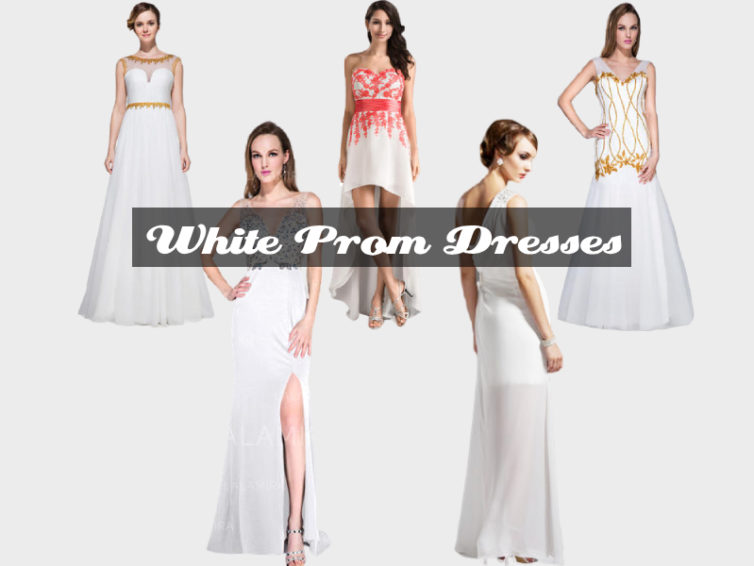 These White Prom Dresses Are Versatile For Any Body Types