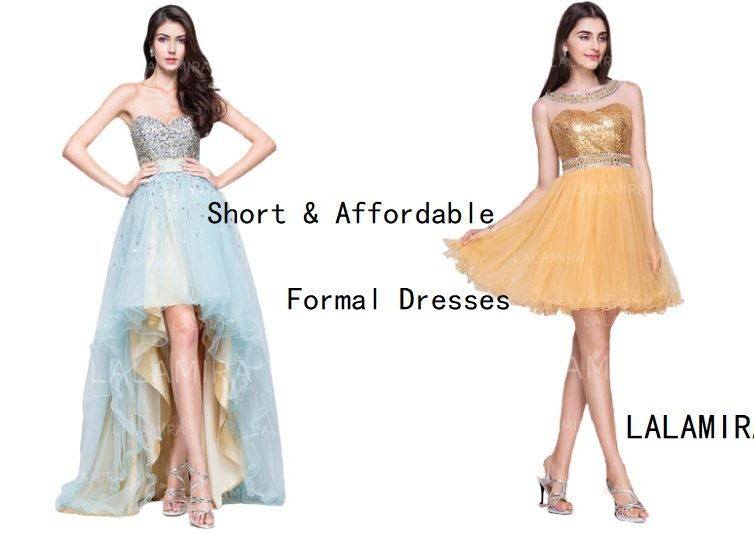 Can formal dresses be short? Where to buy affordable formal dresses?