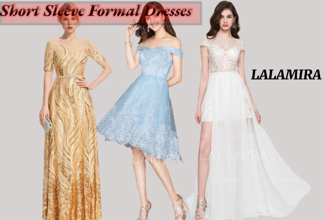 short sleeve formal dresses