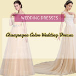 You are not the first one who chose champagne color wedding dress