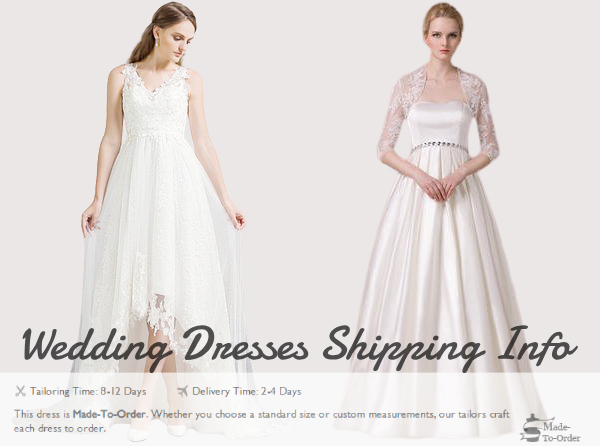 wedding dresses shipping info