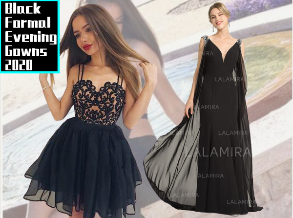 Black Formal Evening Gowns 2020 Online from Lalamira