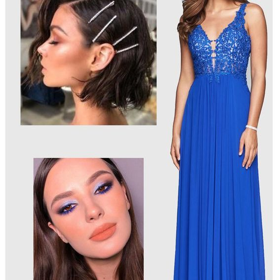 What is good makeup for a blue prom dress to shine your upcoming prom?