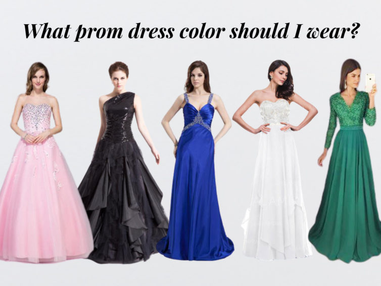 What prom dress color should I wear to show me best?