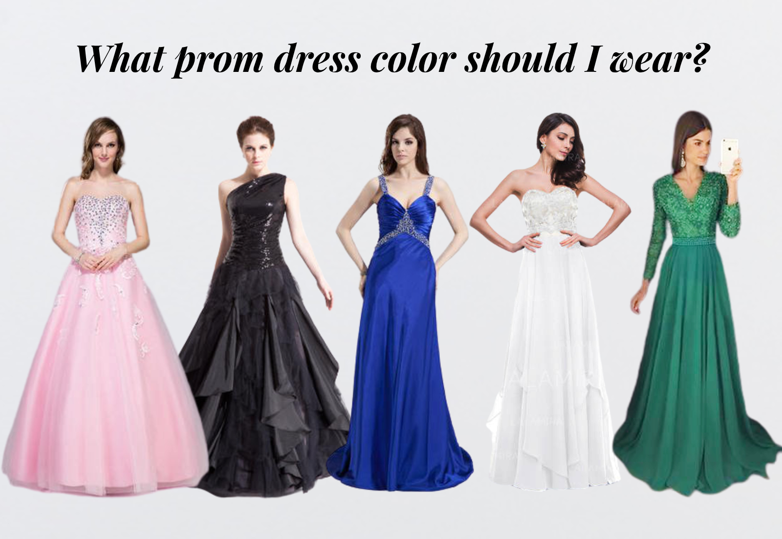 prom dresses by colors