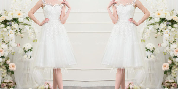 7 inspiring ideas of knee-length wedding dresses for Summer 2020