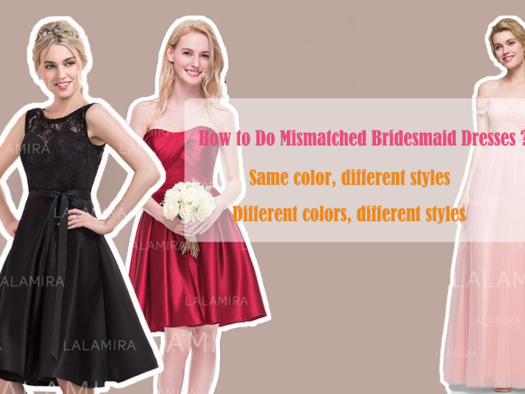 How to Do Mismatched Bridesmaid Dresses? Power of a Black Bridesmaid Dress