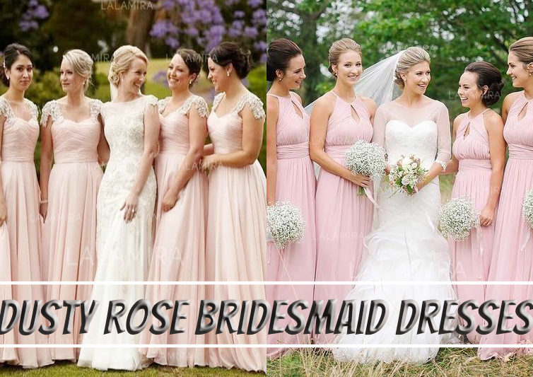 Dusty rose bridesmaid dress is a versatile color for your big wedding day